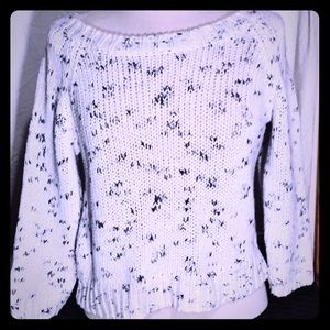 American Eagle 3/4 length knit sweater cropped